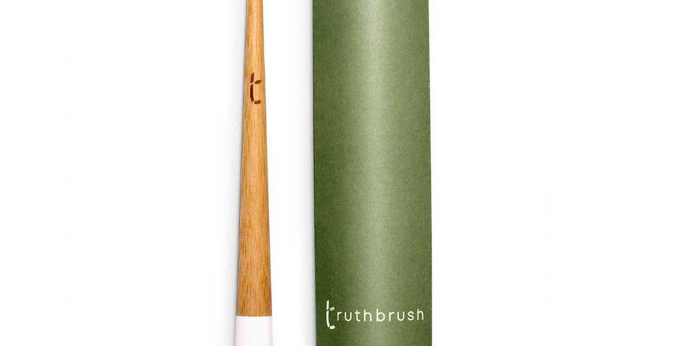 Bamboo Toothbrush with Plant Based Medium Bristles White - Truthbrush