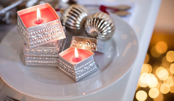 Square Silver Offering Tins