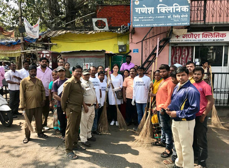Making slum life colourful and environment-friendly