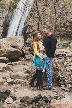 family-waterfall