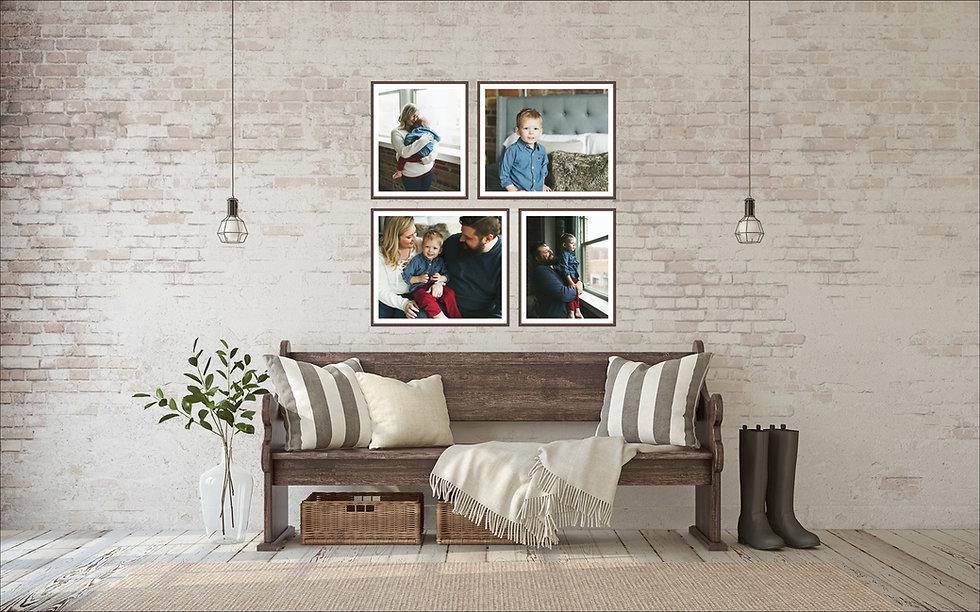 Family Photos Framed Wall Gallery