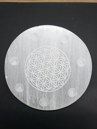 Selenite Plate, PeaceAndLaughter.com