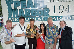 Joel Biggs, with the Mayor of Honolulu Carslile and the Governor of Hawaii, Abercrombie