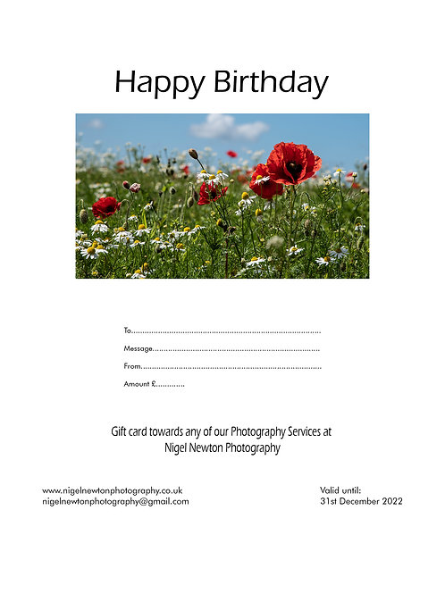 Birthday E-Gift Card Poppy £5-£100