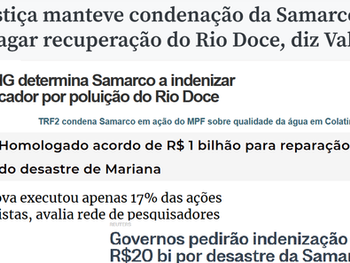 """Renova propagandeia como """"benfeitoras"""" ações no rio Doce que não passam de sua obrigação judicial"""
