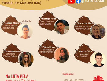 Matriz de Danos das pessoas atingidas pelo rompimento de Mariana será apresentada em live