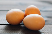 Eier auf Tabelle