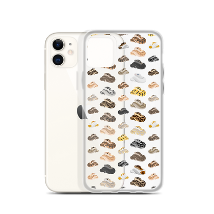 Mixed Ball Python Clear Phone Case