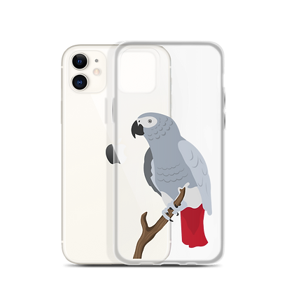 Congo African Grey Clear Phone Case