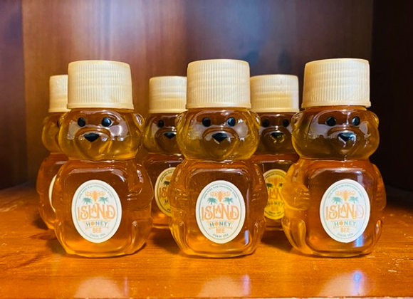 3 x 2 oz Pure Honey Bear Bottles