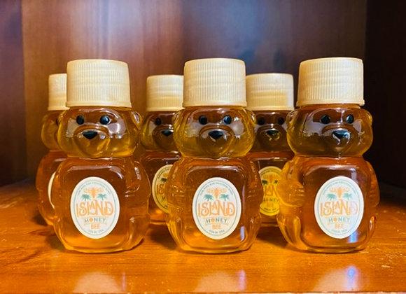 3 x 2 oz Pure Honey Bear Bottles