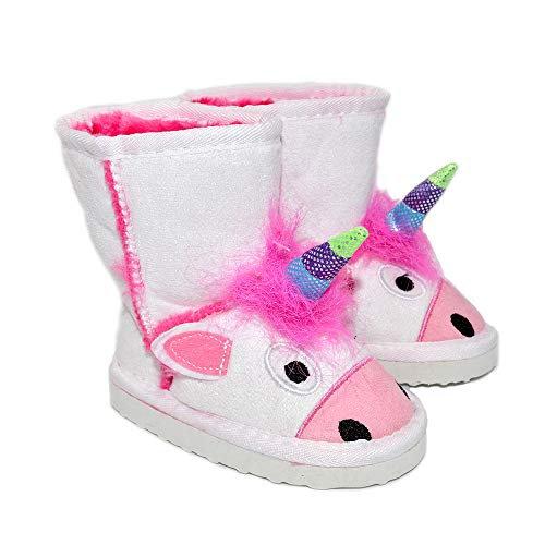 Millffy Winter Boots Cute Plush Cartoon Animal Unicorn Slippers for Kids