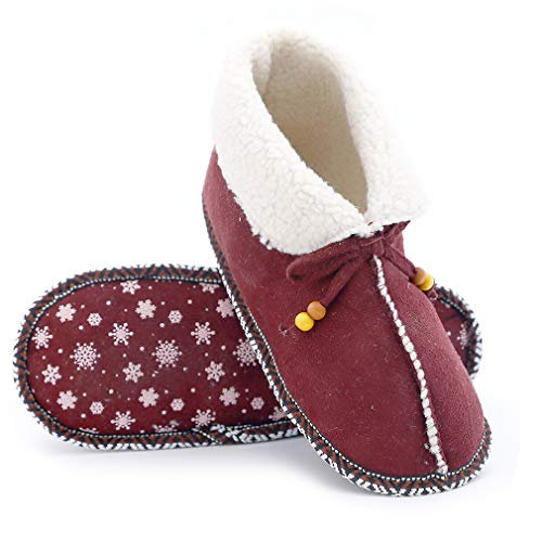 Millffy Women's Comfy House Slipper Wool Blend Moccasins Indoor Soft Sock Shoes
