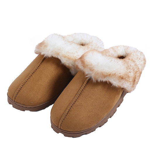Millffy Women's Faux Fur Microsuede Comfy House Slippers Indoor Slides Shoes