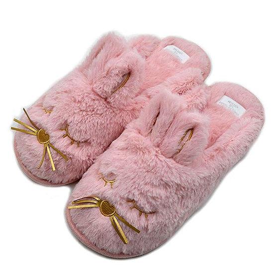 Millffy winter soft bunny plush animal rabbit slippers MS0962