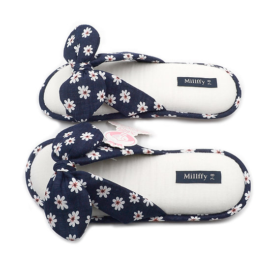 Millffy New Fashional Summer Floral Woman Cotton Slippers MS0912