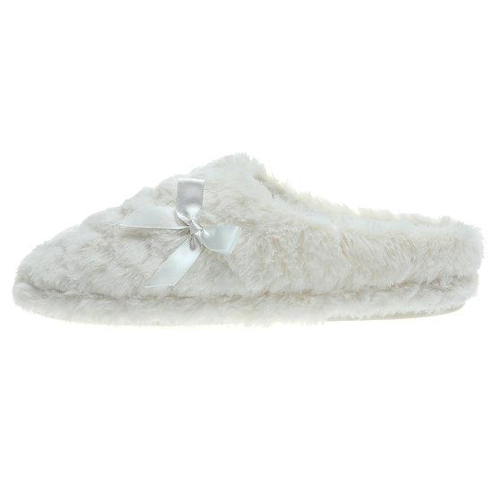 Women's Plush Fur Slippers Ladies' Fuzzy Slip on cozy slippers