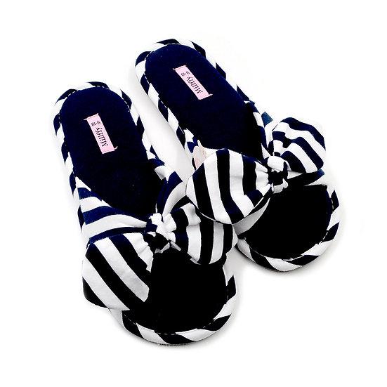 Millffy Summer Ladies Slides Knot Stripe Slippers MS0914