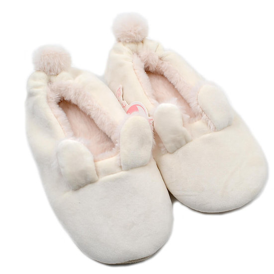 Plush soft cute bunny woman ballerina slippers MS0954