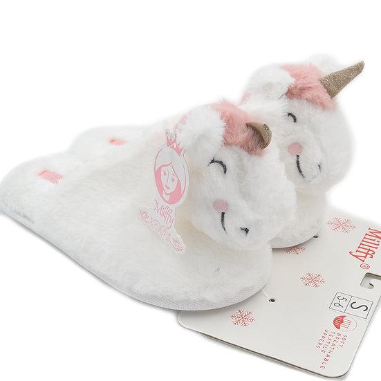 Millffy soft cute bunny rabbit unicorn plush home slippers MS0955