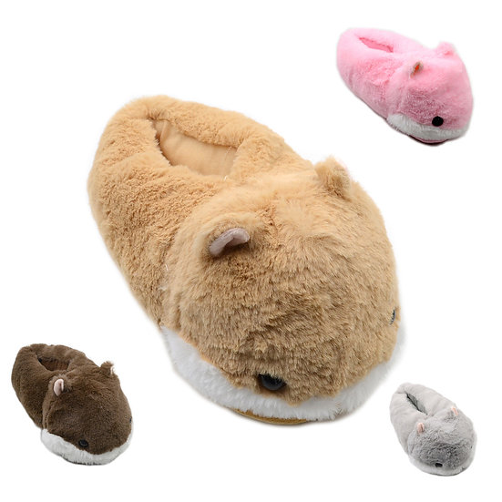 Millffy cute hamster plush animal slippers for woman kids MS0959