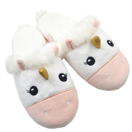 Millffy comfy unicorn home plush house slippers for woman MS0960