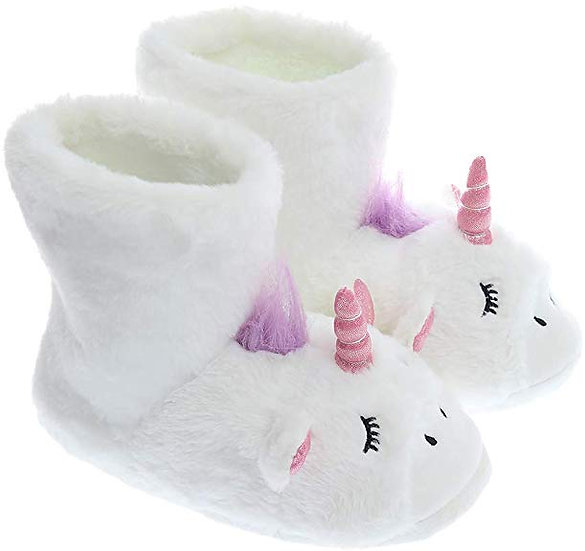 Cozy Animal Plush Shoes Unicorn Boot Indoor Outdoor Sneakers Woman Slippers