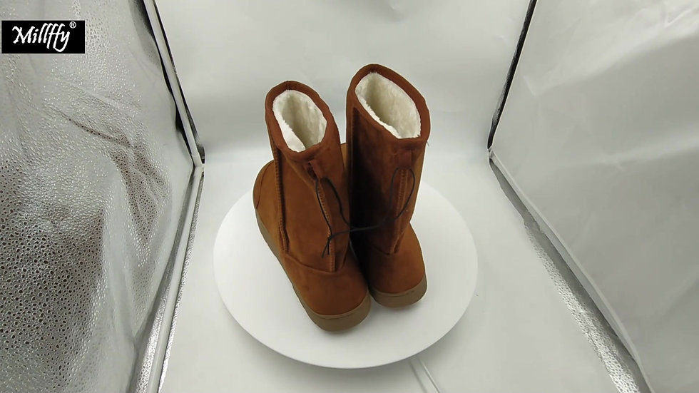 Winter Men's High Mocassin Flat Boot Moccasins Fringed Booties