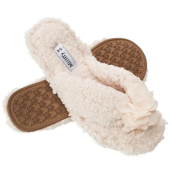 Millffy Plush Cozy Home Flip-Flops Slippers MS0904