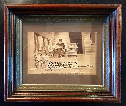 Last Photograph of Gen. U.S. Grant.