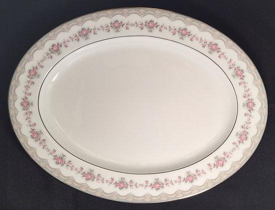 Noritake China Glenwood Design Oval Serving Platter.