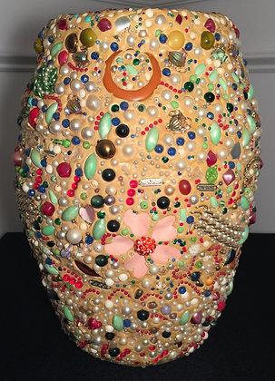 Folk-Art Memory Pottery Vase.