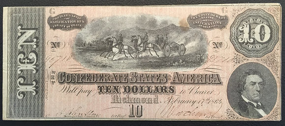 1864 Confederate Currency
