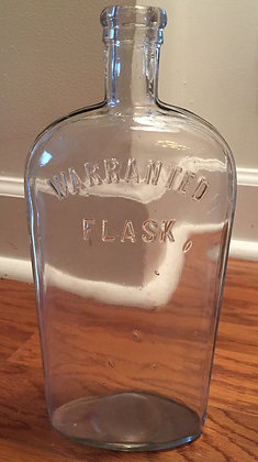 Large 1890's Warranted Flask Strap Bottle.