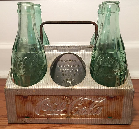 1950s Coca Cola Aluminum 6 Pack Bottle Carrier!
