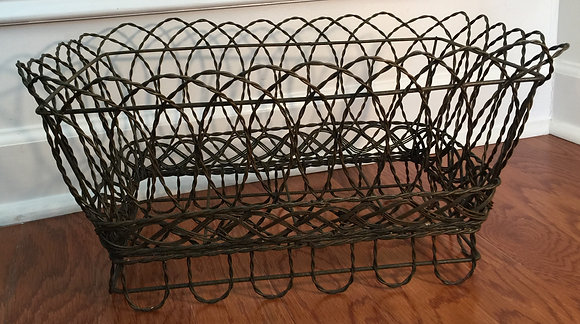 Victorian Style Twisted Metal Wire Planter.