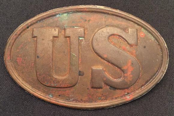 Civil War US CARTRIDGE BOX Plate.
