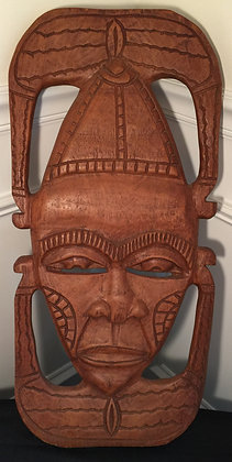 Antique Wood Hand Carved Statue.