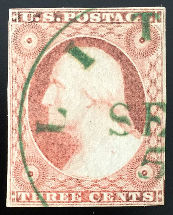 Scott #11A Used- VF with dark Green cancellation!