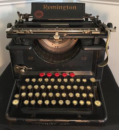 Vintage Remington No. 12 Typewriter, c. 1925.