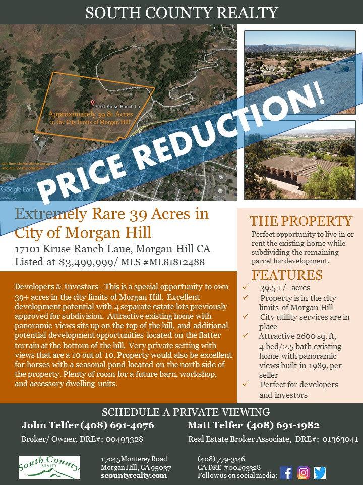 17101 Kruse Ranch Lane Flyer Price Reduc