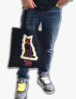 Save A Gato Tote - Black