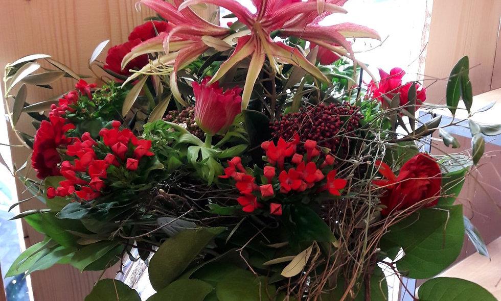 Bouquet rond coloré - L