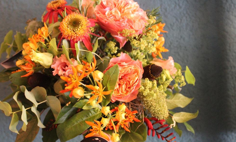 Bouquet rond coloré - S