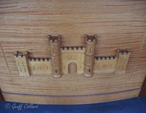 Carving of Sham Castle, Bath