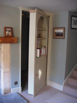 secret bookcase door open bathampton