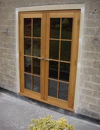 French patio doors in oak