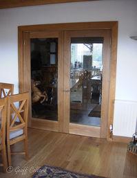 Contemporary oak doors