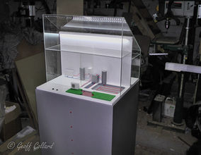 Model showing a new heating system