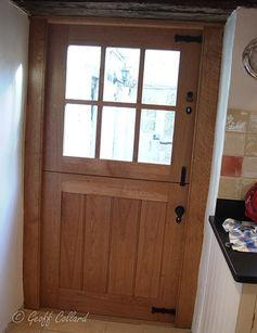 Six pane oak stable door